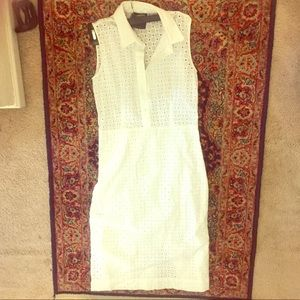 Barney's Eyelet Half Button Dress Made in Italy